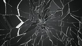 Splitted or shatterd glass on black Stock Photography