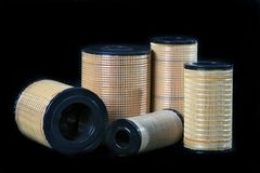 Splitterny automatisk kassett för olje- filter Royaltyfri Bild