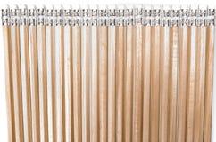 Splitterny ledningsblyertspennor för liknande längd på vit Arkivbilder