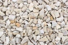 Splitterungen und Kies des Marmors und des Sandsteins gefärbt Stockbilder