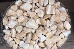 Splitterungen und Kies des Marmors und des Sandsteins gefärbt Lizenzfreies Stockbild