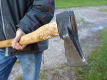 Splitting axe 3 Royalty Free Stock Photo