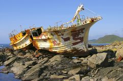 Splitting fishing schooner Royalty Free Stock Photos