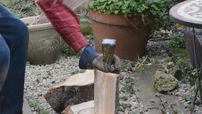 Splitting logs Royalty Free Stock Photography