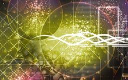 Splitting Molecules. Digital illustration of molecules in colour Royalty Free Stock Photos