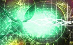 Splitting Molecules. Digital illustration of molecules in colour Royalty Free Stock Photo