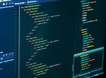 Free Splitting Of Html And Css In The Code Editor On The Monitor, Close Up. Web Design And Web Development Royalty Free Stock Photos - 139056188