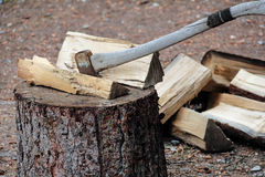 Splitting wood Royalty Free Stock Images