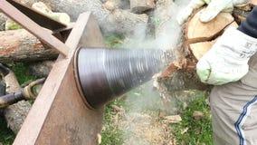 Splitting Wood stock video