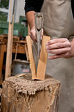 Splitting wood Stock Images