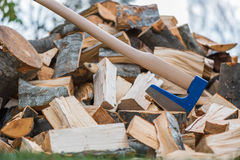 Splitting wood Royalty Free Stock Photo