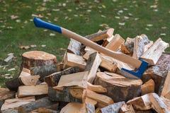 Splitting wood Royalty Free Stock Image