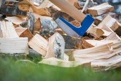 Splitting wood Stock Photos