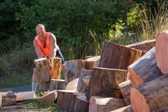Splitting wood Royalty Free Stock Image