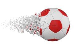 Splittra illustrationen för raster för fotbollboll 3D den realistiska Fotbollboll med explosioneffekt vektor för bild för designe stock illustrationer