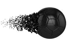 Splittra illustrationen f?r raster f?r fotbollboll 3D den realistiska Fotbollboll med explosioneffekt E royaltyfri illustrationer