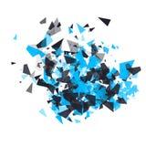 Splittra vektordesignbeståndsdelen royaltyfri illustrationer