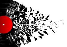 splittra vinylen vektor illustrationer