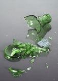 splittrad flaska Arkivfoto