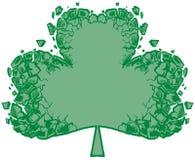 Splittrad konst för gem för treklöver- eller växt av släktet Trifoliumvektorbakgrund royaltyfria foton