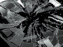 Splittrade eller brutna isolerade exponeringsglasstycken Royaltyfri Bild
