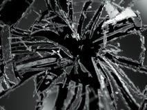 Splittrade eller demolerade isolerade exponeringsglasstycken Royaltyfria Foton