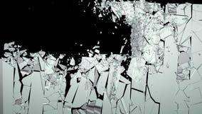 Splittrade eller slog stycken av exponeringsglas Arkivbild