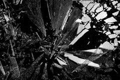 splittrade glass skärvor Arkivfoton