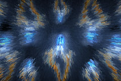 Splittrade kuber lightspeed-som abstrakt bakgrund Fotografering för Bildbyråer