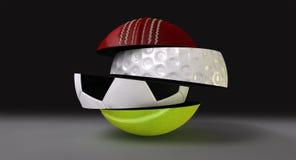 splittrade runda segmenterade sportar för boll Arkivfoton