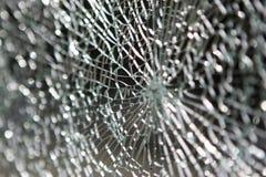 Splittrat exponeringsglas Arkivbild