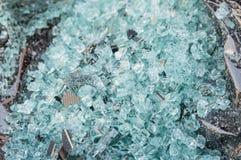 Splittrat exponeringsglas av det tillbaka blandade fönstret av en bil Royaltyfri Fotografi
