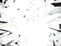 Splittrat exponeringsglas som isoleras över vit bakgrund Fotografering för Bildbyråer