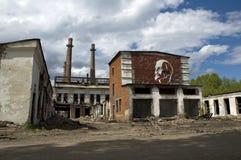 Splittrat glasbruk i Ryssland Arkivbilder