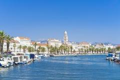 Splittring Kroatien - 20 Juli 2017 Arkivfoto