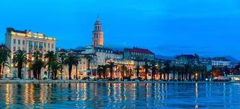 Splittring på natten, Kroatien Arkivbild