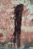 Splodge auf rotem altem des rauen strukturierten Hintergrundes Lizenzfreies Stockfoto