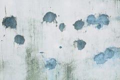 Splodgy popielaty ścienny tło z błękitnymi punktami Zdjęcie Royalty Free