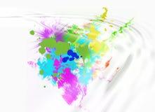 Splotches coloridos sumário imagem de stock