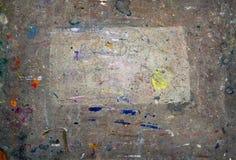 Splotches der Farbe auf Künstler verwendeten Kunstbrett Lizenzfreie Stockbilder
