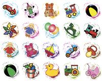 Splotches with toys stock photo