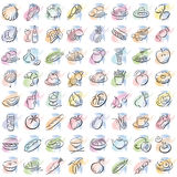 Splotches With Food Royalty Free Stock Photo