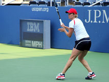 Tennisprofi-Kim Clijsters-Praxis für US Open Stockfotos