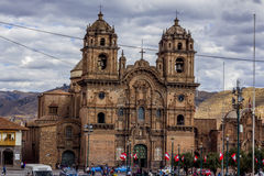 Społeczeństwo Jezus kościelny Plac De Armas Cuzco Peru Zdjęcie Stock