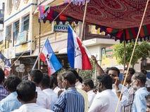 Społeczeństwo manifestacja ind rządowi zdjęcia stock