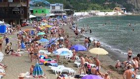Społeczeństwo plaża, Novy Svet, Crimea zdjęcie wideo