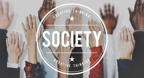 Społeczeństwo różnorodności Podłączeniowej społeczności ręki Ludzki pojęcie obraz royalty free