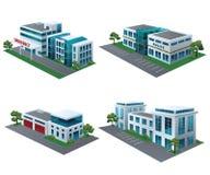 Społeczność budynki Obrazy Royalty Free