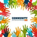 Społeczność i socjalny royalty ilustracja