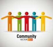 Społeczność i socjalny ilustracja wektor